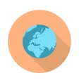 Pictograph Globe Icon Isolated on White vector image