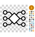 pool network connections icon with bonus vector image vector image