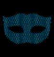 privacy mask mosaic icon of halftone circles vector image