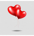 red balloons heart isolated transparent background vector image