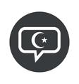 Round Turkey symbol dialog icon vector image vector image