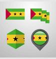 sao tome and principe flag design set vector image vector image