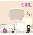 Scrapbook card for baby vector image