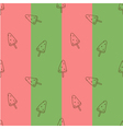 Seamless pattern watermelon ice cream vector image vector image