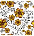 seamless pattern with orange gradient flowers