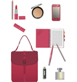 Set for business woman vector image vector image