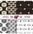 set of american football patterns usa sports vector image vector image