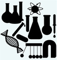 Set of objects used in science vector image vector image