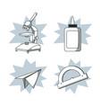 set of school utensils draws vector image
