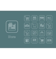 Set of store simple icons vector image vector image