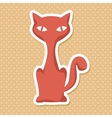 silhouette orange cat style vector image