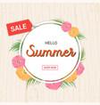 summer flowers frame or summer floral design vector image vector image