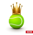 Tennis ball with royal crown of queen vector image vector image