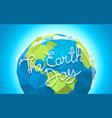 the earth day card vector image