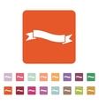 The ribbon icon Ribbon symbol Flat vector image vector image