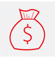 thin line money bag icon design vector image