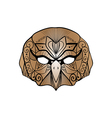tribal brown owl bird portrait vector image vector image