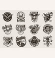 vintage custom motorcycle badges vector image vector image