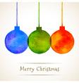 Watercolor Hand Drawn Christmas Balls vector image vector image
