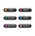 web navigation buttons vector image vector image