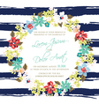wedding invitation with wreath vector image vector image