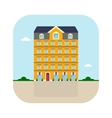 yellow high house vector image