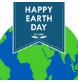 banner for happy earth day vector image