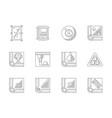 billiards flat line icons set vector image