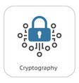 cryptography icon vector image