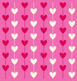 romantic seamless heart pattern background for vector image