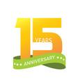 15 years anniversary celebrating logo icon vector image vector image