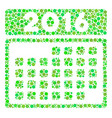 2016 month calendar composition icon of dots vector image