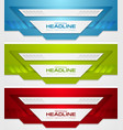 abstract bright tech corporate banners collection vector image