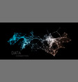 abstract network connection technology background vector image