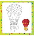 Air balloon Coloring book page vector image