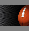 american football rugby on black circle mesh vector image