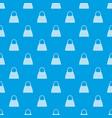 beautiful bag pattern seamless blue vector image vector image