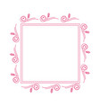 beautiful rectangle floral frame 03 vector image vector image