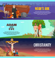 bible story banners set vector image