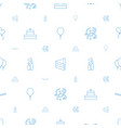birthday icons pattern seamless white background vector image vector image