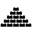 building block vector image vector image