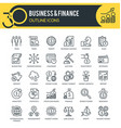 business and finance outline icons vector image vector image