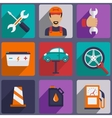 Car repair icons set with mechanic service and vector image vector image