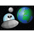Cartoon alien in space vector image vector image