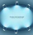 clean studio lights background vector image vector image