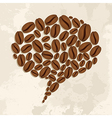 Coffee beans bubble chat concept vector image vector image