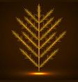 coniferous tree christmas tree vector image vector image