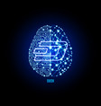crypto currency dash on brain background vector image vector image