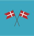 denmark flag icon in flat design vector image