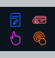edit document hand click and payment method icons vector image